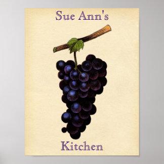 Vintage Grape Poster