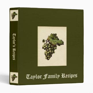 Vintage Grapes Recipe Binder