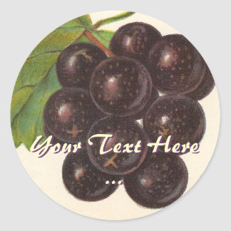 Vintage Grapes Stickers