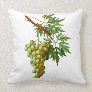 Vintage Grapevine Grapes Leaf Green Plant Vinyard Throw Pillow