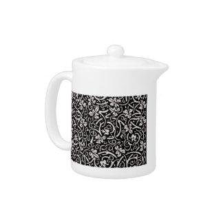 Vintage grapevine trendy decorator floral pattern teapot