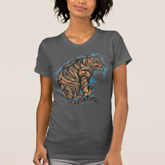 Vintage Graphic Chinese Tiger Watercolor Style T-Shirt