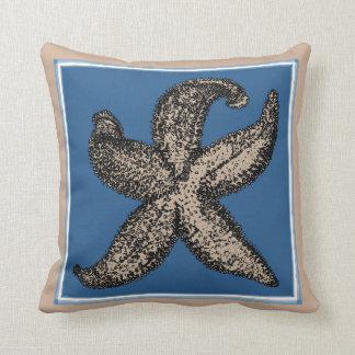 Vintage Graphic Starfish Pillow