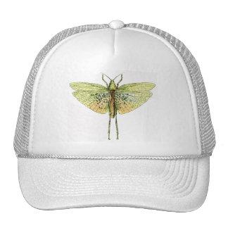 Vintage Grasshopper Print Trucker Hat