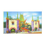 Vintage Grauman's Chinese Theater Canvas Print