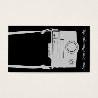 Vintage Gray and Black Film Camera Business Card
