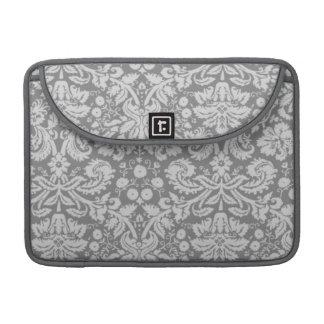 Vintage Gray Damask Sleeve For MacBooks