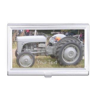 Vintage Gray massey fergison tractor Business Card Case