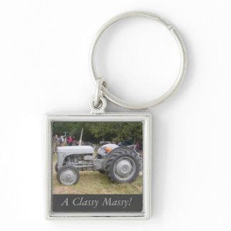 Vintage  Gray massey fergison tractor photo Keychain