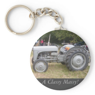 Vintage  Gray massey fergison tractor photo Keychain