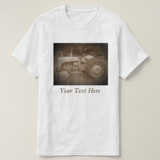 Vintage Gray massey fergison tractor photo sepia T-Shirt