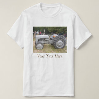 Vintage Gray massey fergison tractor photo T-Shirt