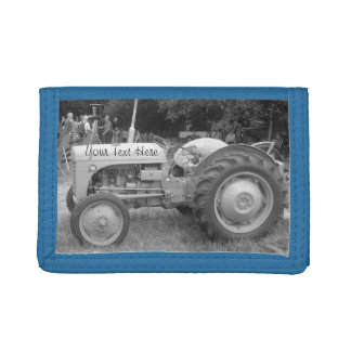Vintage Gray massey fergison tractor photo Trifold Wallet