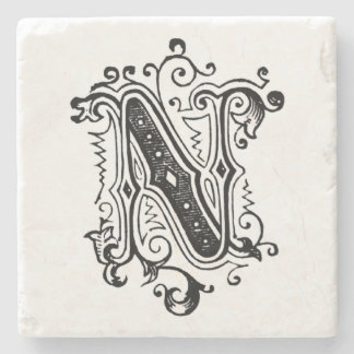 Vintage Gray Ornamental 'N' Stone Coaster
