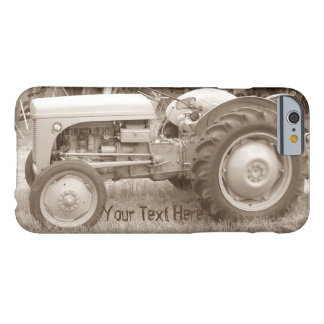 Vintage Gray tractor retro photograph Barely There iPhone 6 Case