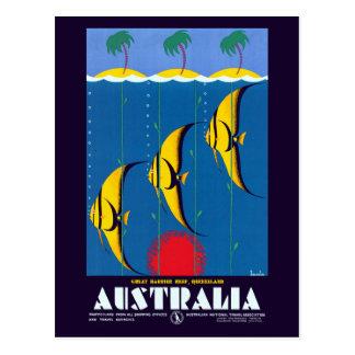 Vintage Great Barrier Reef Australia Travel Postcard