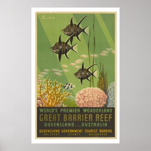 Vintage Great Barrier Reef Travel Poster