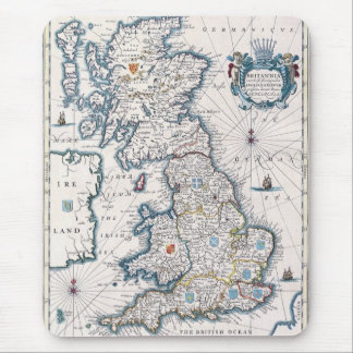 Vintage Great Britain Map History-lover Design Mouse Pad