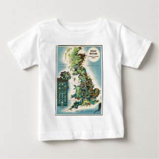 Vintage Great Britain Resources Map Baby T-Shirt
