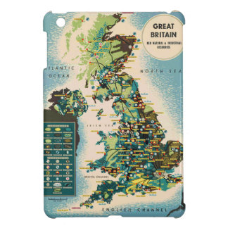 Vintage Great Britain Resources Map Cover For The iPad Mini