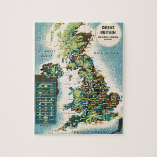 Vintage Great Britain Resources Map Jigsaw Puzzle