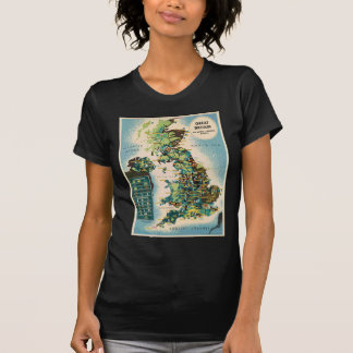 Vintage Great Britain Resources Map T-Shirt