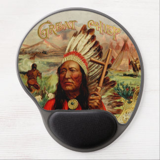 Vintage Great Chief Gel Mouse Pad
