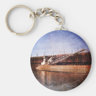 Vintage Great Lakes Freighter Keychain
