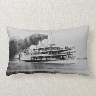 Vintage Great Lakes Steamer The Tashmoo Throw Pillow