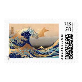 Vintage, Great Wave, Hokusai 葛飾北斎の神奈川沖浪 Postage