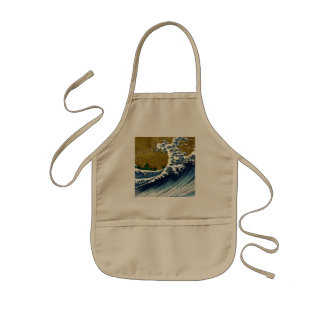 Vintage Great Wave Painting From 100 Views Of Fuji Kids' Apron