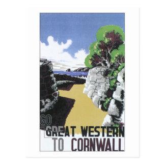 Vintage Great Western Cornwall ad Post Card