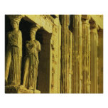 Vintage Grecia, Atenas, acrópolis, Parthenon Póster