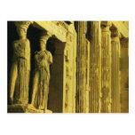 Vintage Grecia, Atenas, acrópolis, Parthenon Tarjeta Postal
