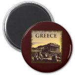 Vintage Grecia Iman Para Frigorífico