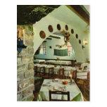 Vintage Greece, Inside a Greek Taverna Post Card