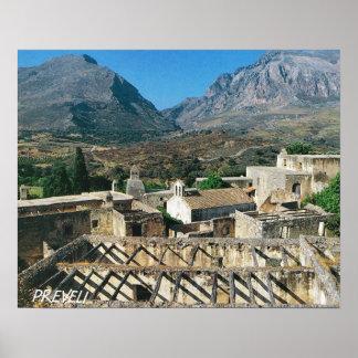 Vintage Greece, Mediterranean Island of Preveli Poster