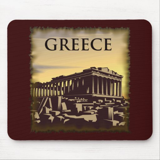 Vintage Greece Mousepads