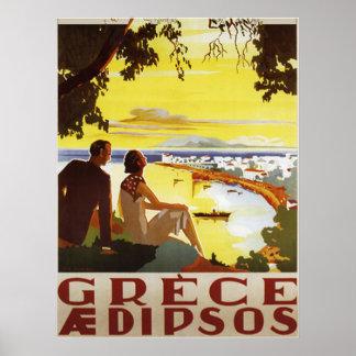Vintage Greece Poster Print