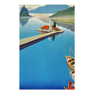 Vintage Greece Travel - Island of Corfu Stationery
