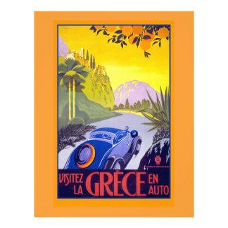 Vintage Greece Travel Poster on Cards & Notecards