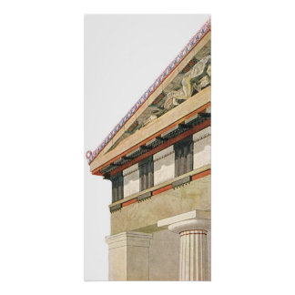Vintage Greek Architecture, Temple of Athena Poster