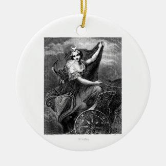 Vintage Greek Goddess Diana Artemis Roman Ancient Ceramic Ornament
