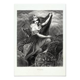 Vintage Greek Goddess Diana Artemis Roman Ancient 5x7 Paper Invitation Card
