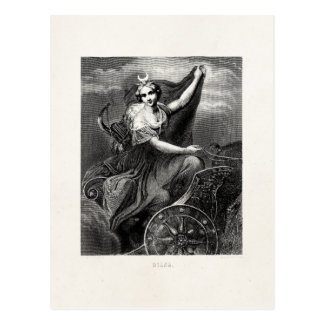 Vintage Greek Goddess Diana Artemis Roman Ancient Postcard