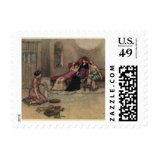 Vintage Greek Maidens Painting Stamp