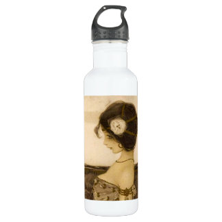 Vintage Greek Virgin Water Bottle