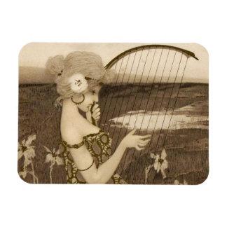 Vintage Greek Virgin With Harp Magnet