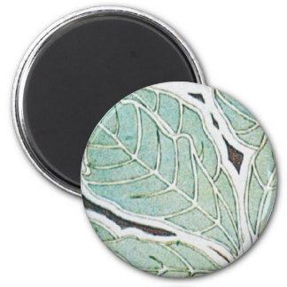 Vintage Green 2 Inch Round Magnet