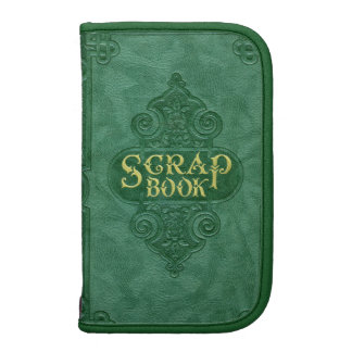 Vintage Green and Gold Scrapbook Folio Planner